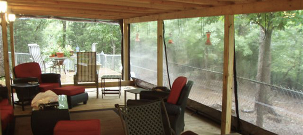 Clear Vinyl Outdoor Curtains - Rooms