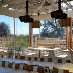 Cafe blinds from Southern Patio Enclosures will help you increase revenues
