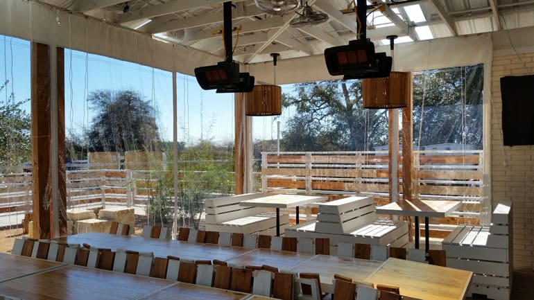 Lovely Cafe Blinds From Southern Patio Enclosures Will Help You Increase Revenues