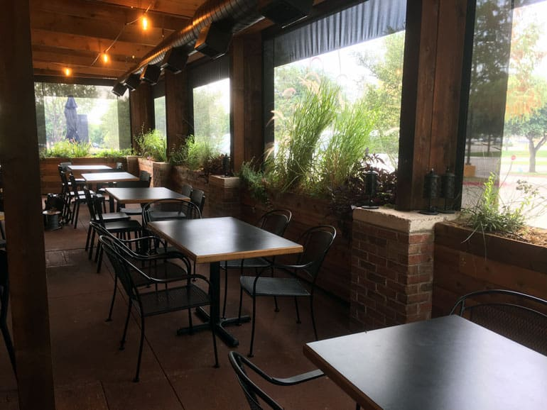 Great Cafe Blinds In Austin, Texas At Wise Guyu0027s Pizzeria. Southern Patio  Enclosures Regularly Works ...