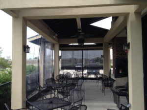 Custom built cafe blinds at Matt's!
