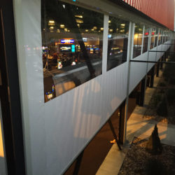 Get a free quote on motorized cafe blinds from Southern Patio Enclosures