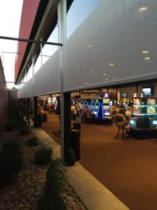 Cafe Blinds from Southern Patio Enclosures are your key to keeping your business comfortable all year long.