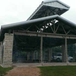 When storms strike unexpectedly, the Brushy Creek Pavilion will now be protected from the elements!