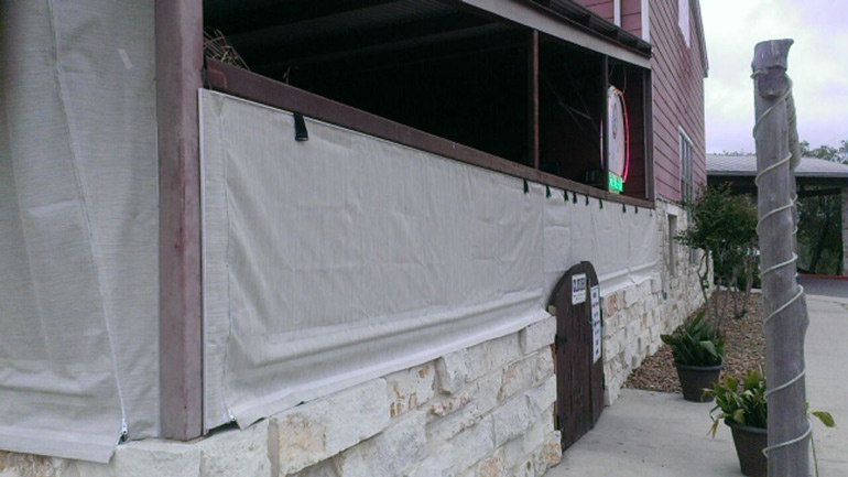 Block the Sun with Motorized Outdoor Curtains - Commercial and ...