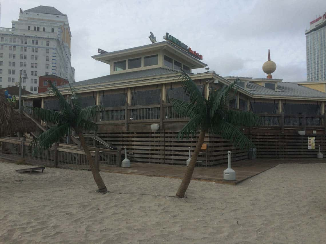 The LandShark Bar and Grill, a full-service bar and restaurant on the Atlantic City Boardwalk.