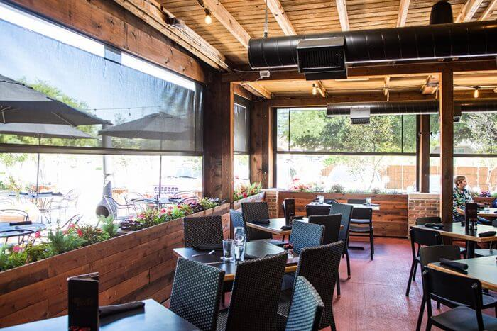 Motorized Restaurant Blinds Southern Patio Enclosures