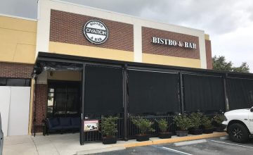 outside ovation bar bistro patio sun shade enclosures