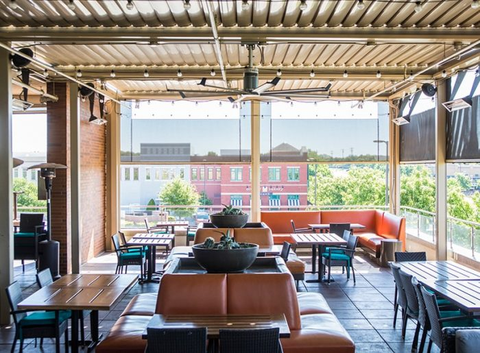 del frisco restaurant motorized patio sun shades