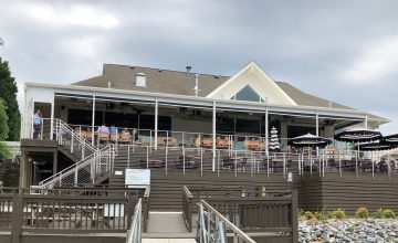 hello sailor restaurant patio north carolina motorized shaded enclosures