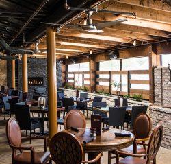 motorized sun enclosures clear vinyl shoal tavern interior patio