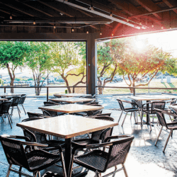 sunny restaurant patio jack allen austin