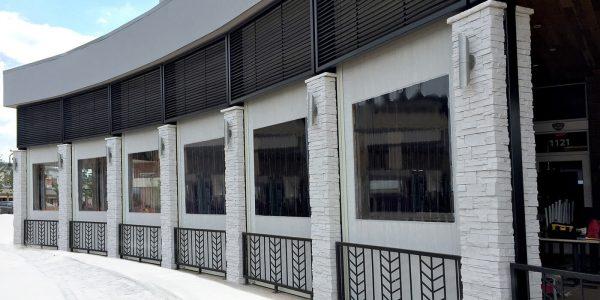 gloria restaurant winter patio screens exterior