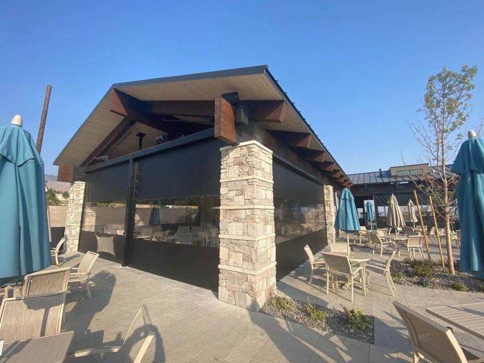 motorized patio panels at club at arrow creek