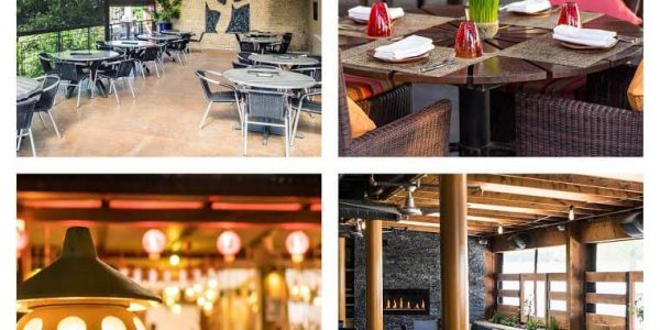 restaurant patios designs and decorations