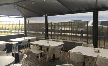 exterior maudies tex mex restaurant patio sun shades